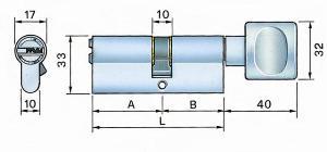Potent cilindro profilo europeo secur s34 c-1-4