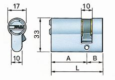 Potent cilindro profilo europeo secur s34/c-1