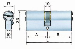 Potent cilindro profilo europeo secur s34/c-1-2