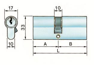 Potent cilindro profilo europeo secur n30 scheda
