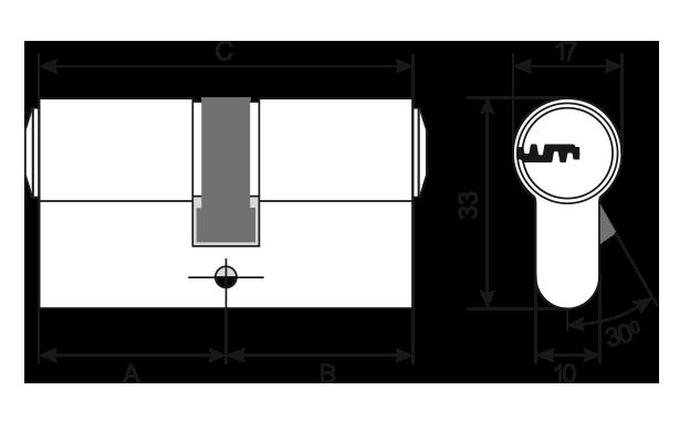 Potent cilindro europeo mauer serie elite 2