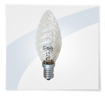 Potent illuminazione lampadina alogena tortiglione