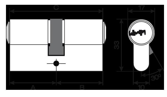 Potent cilindro europeo mauer serie ml plus