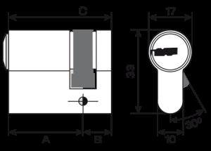 Potent serrature cilindro europeo mauer nw5 chiave