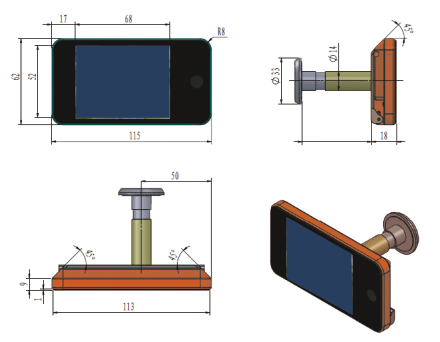Potent spioncini-elettronici 12900 digital ot-sa disegno