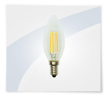 Potent illuminazione led a filamento candela